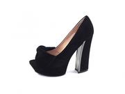 Туфли женские на каблуке, замшевые