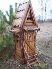 садовый декор из дерева
