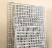Решетки торговые с полимерным покрытием.