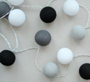Гирлянды фонарики из хлопковых шариков тайские гирлянды фонарики