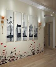 Модульные картины на стекле,  картины на холсте